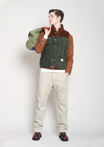 BEDWIN-DOWN-VEST-FRIPP-OLIVE-COORDINATE