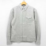 RATS-WOOL-BUTTON-DOWN-SHIRTS-TOP-GREY