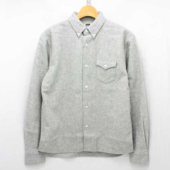 Rats wool button down shirts for Wool button down shirt