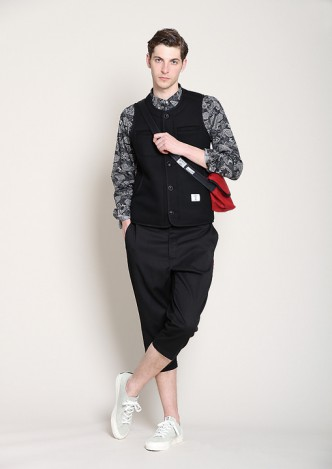 BEDWIN-OG-BEACH-CLOTH-VEST-MARGO-BLACK-COORDINATE