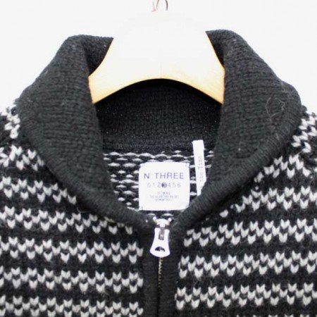 BEDWIN-SHAWL-COLLAR-COWICHAN-SWEATER-JACO-BLACK-COLLAR