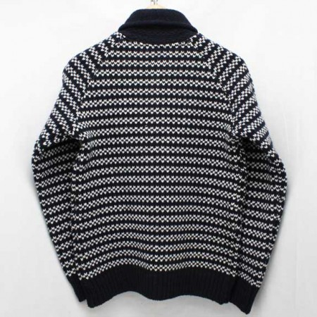 BEDWIN-SHAWL-COLLAR-COWICHAN-SWEATER-JACO-NAVY-BACK