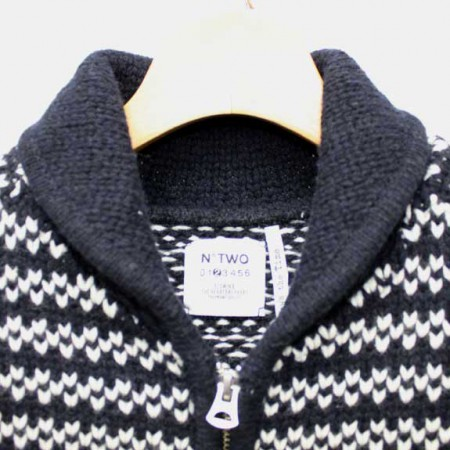 BEDWIN-SHAWL-COLLAR-COWICHAN-SWEATER-JACO-NAVY-COLLAR