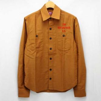 HIDE-AND-SEEK-13AW-Work-L-S-Shirt-KHAKI-01