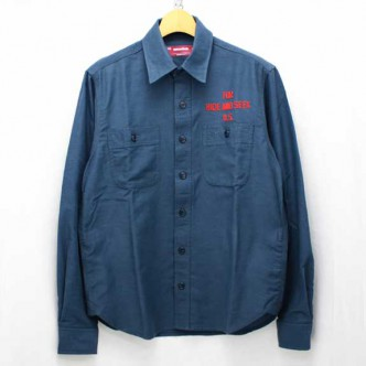 HIDE-AND-SEEK-13AW-Work-L-S-Shirt-NAVY-01