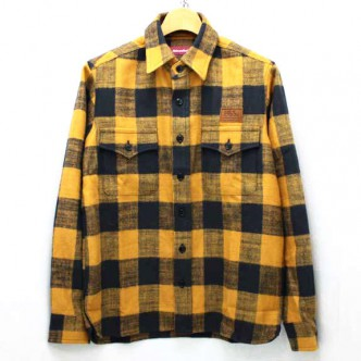 HIDE-and-SEEK-Buffalo-Check-LS-13aw-YELLOW