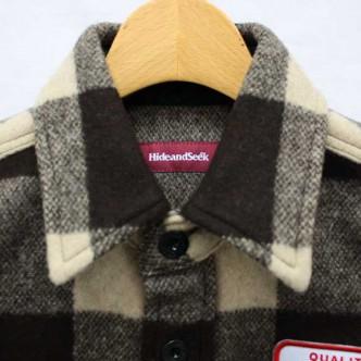 HIDE-and-SEEK-Check-CPO-Shirt-BROWN-COLLAR