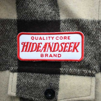 HIDE-and-SEEK-Check-CPO-Shirt-BROWN-TAG