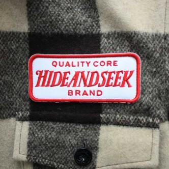 HIDE-and-SEEK-Check-CPO-Shirt-BROWN-TAG