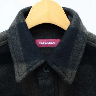 HIDE-and-SEEK-Check-CPO-Shirt-O-D-COLLAR