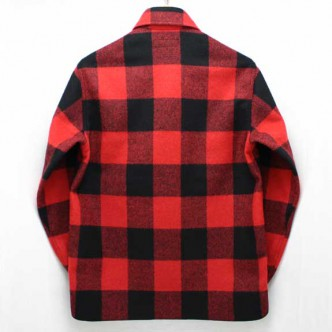 HIDE-and-SEEK-Check-CPO-Shirt-RED-BACK