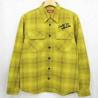 HIDE&SEEK-Check-LS-Shirt-13ws-B-YELLOW