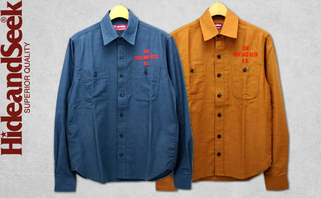 hide-and-seek-work-l-s-shirt-13aw-khaki-navy