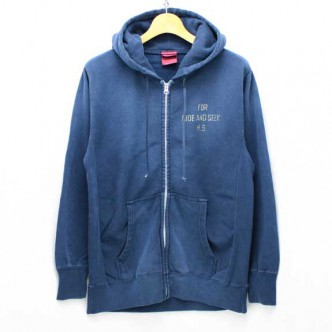 HIDE-and-SEEK-FOR-HS-ZIP-Parka-NAVY