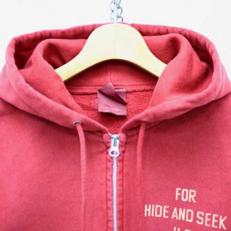 HIDE-and-SEEK-FOR-HS-ZIP-Parka-RED-COLLAR