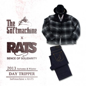 RATS-WOOL-LUNCH-COAT-GREY-BLACK-CHECK-COORDINATE-2