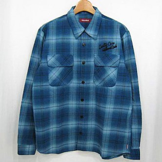 HIDE-and-SEEK-Check-LS-Shirt-13ws-B-BLUE