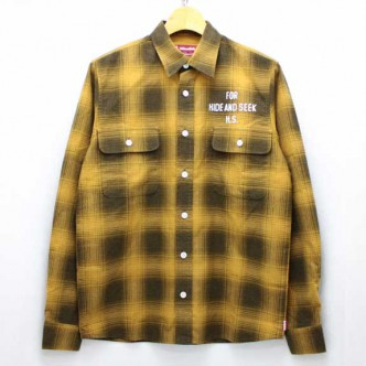 HIDE-and-SEEK-Check-LS-Shirt-14ws-YELLOW