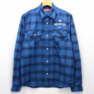 HIDE-and-SEEK-Check-Western-Shirt-BLUE-14ws-No2