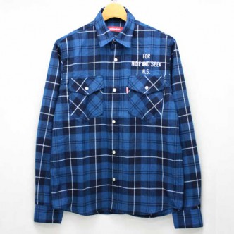 HIDE-and-SEEK-Check-Western-Shirt-BLUE-14ws-No4