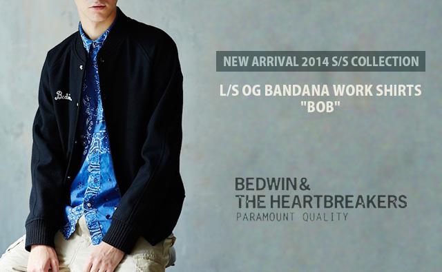 BEDWIN L/S OG BANDANA WORK SHIRTS BOB NAVY