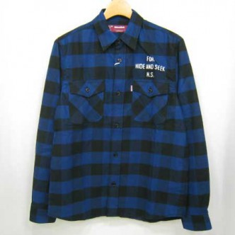 HIDE-and-SEEK-Buffalo-Check-LS-Shirt-13sa-BLUE
