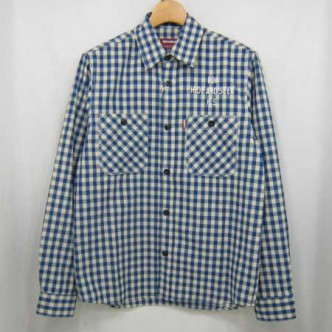 HIDE-and-SEEK-Check-LS-Shirt-13sa-WHITExBLUE