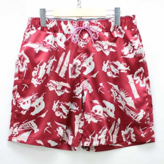 THE STYLIST JAPAN ALASKA SURF SHORTS WINE
