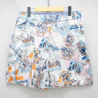 THE STYLIST JAPAN BERMUDA SURF SHORTS:WHITE