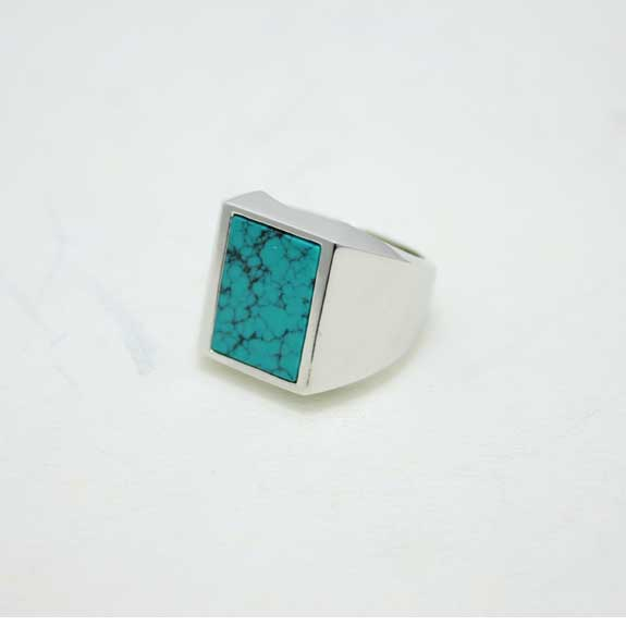 HIDE&SEEK Turquoise Ring (Square-14ws)