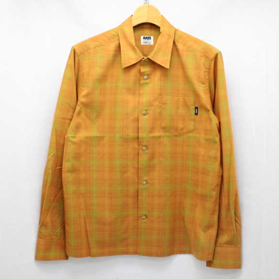 RATS TC BROWN CHECK SHIRTS L/S