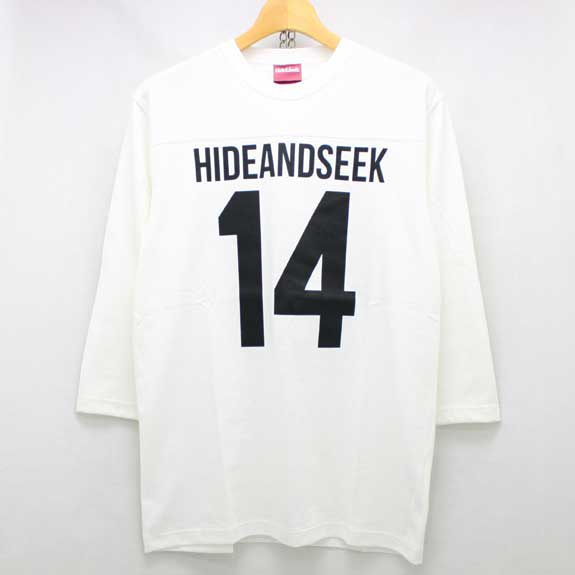HIDE&SEEK Football 3/4s (14ws):WHITE