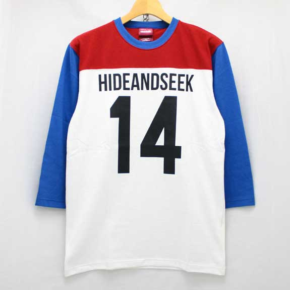 HIDE&SEEK Football 3/4s (14ws):RED/BLUE