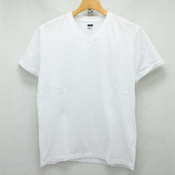 RATS V-NECK T-SHIRTS:WHITE
