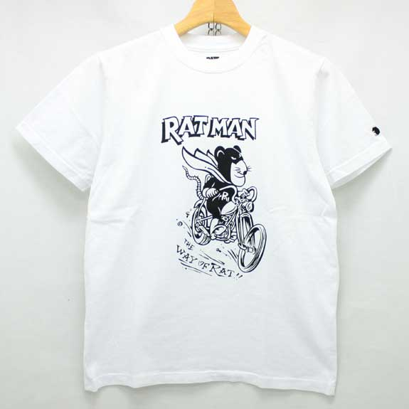 RATS RAT MAN T-SHIRTS:WHITE