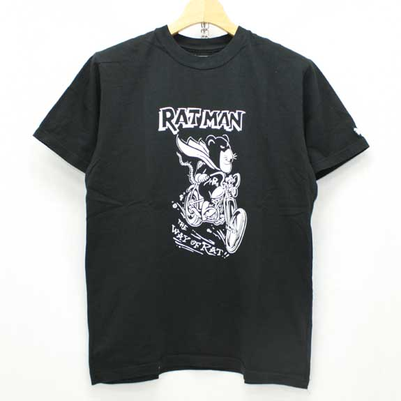 RATS RAT MAN T-SHIRTS:BLACK