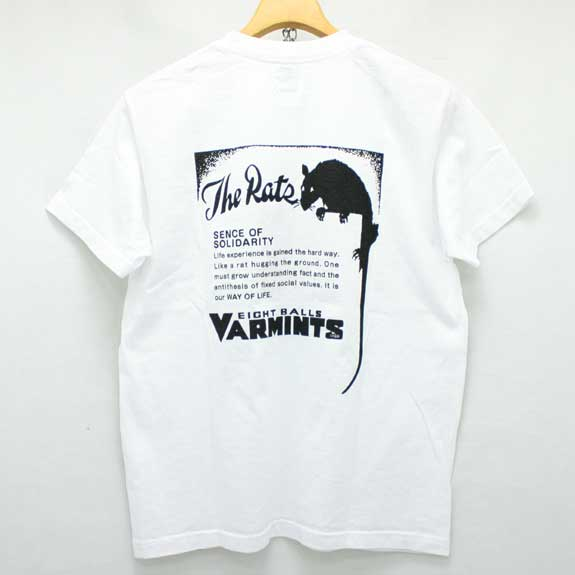RATS VARMINTS POCKET T-SHIRTS:WHITE