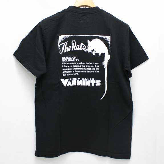RATS VARMINTS POCKET T-SHIRTS:BLACK