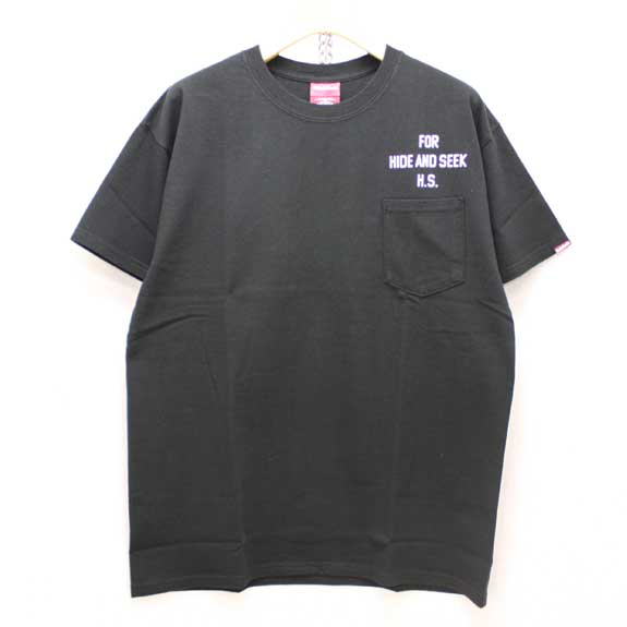 HIDE&SEEK FOR H.S. S/S Tee (14sa):BLACK