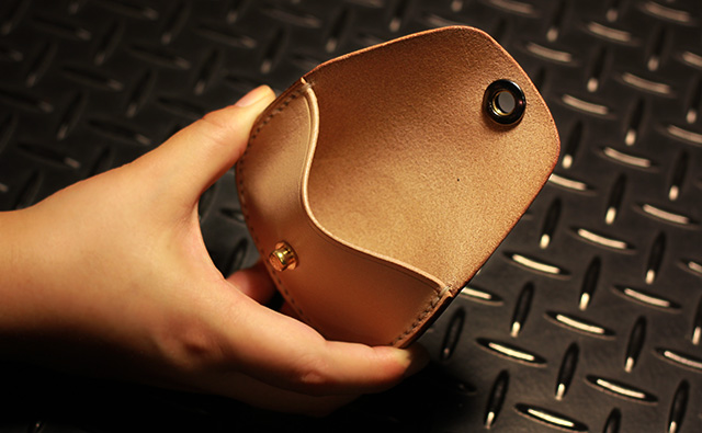 GROK LEATHER グロックレザー HALF MOON COIN CASE