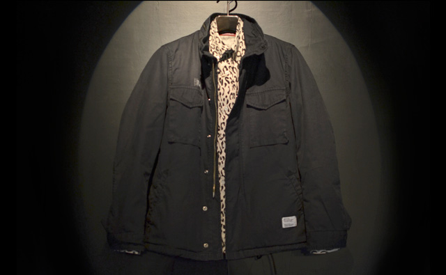BEDWIN M-65 FIELD JKT FADED GORDON:BLACK
