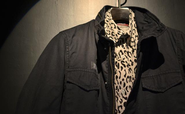 HIDE&SEEK Panther B.D. Shirt (14ws):BEIGE