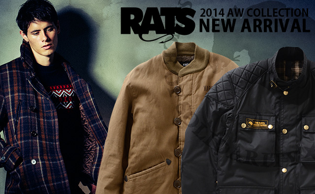 RATS 2014AW 新作入荷
