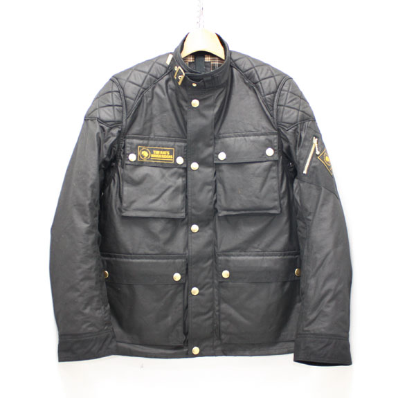 RATS OILED COTTON MC JKT:BLACK