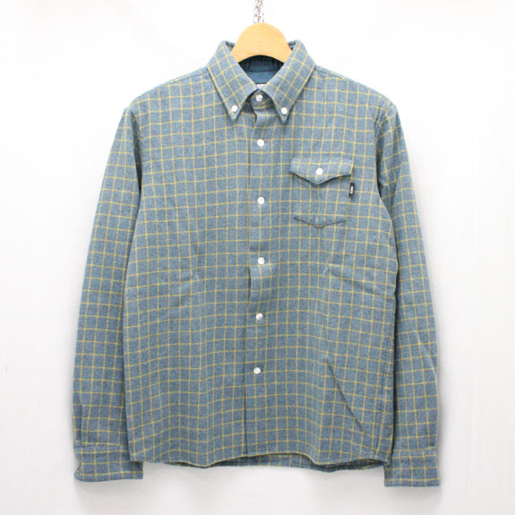 RATS WOOL B.D. SHIRTS:BLUE