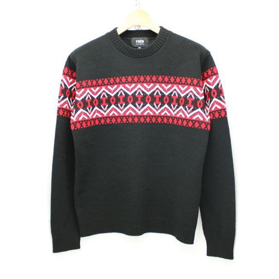 RATS FAIR ISLE KNIT:BLACK
