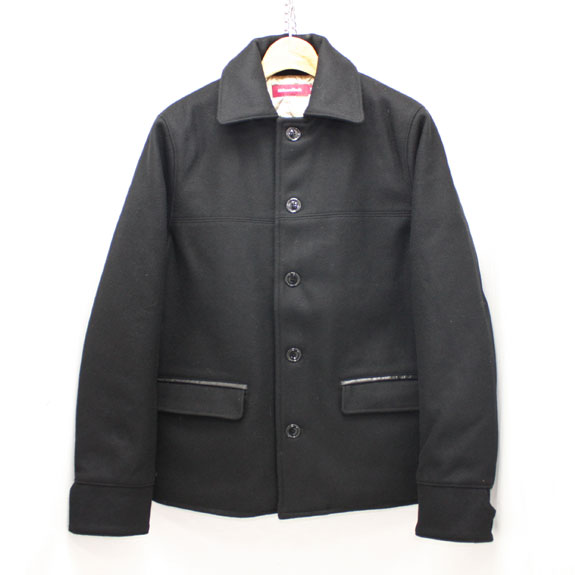 HIDE&SEEK Melton Car Coat (14aw):BLACK