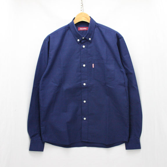 HIDE&SEEK B.D. L/S Shirt(14aw):NAVY