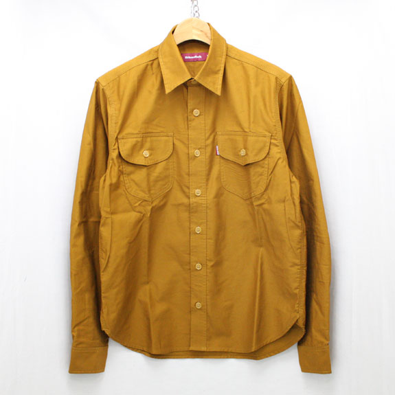 HIDE&SEEK Work L/S Shirt (14aw):MUSTARD