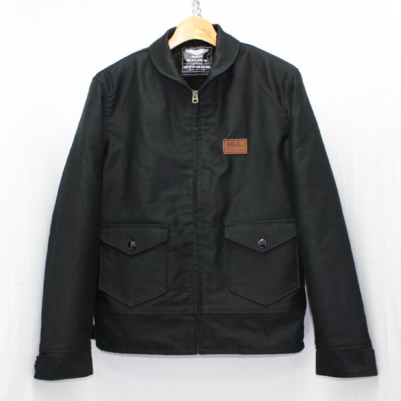 HIDE&SEEK Shawl Collar JKT (14aw):BLACK